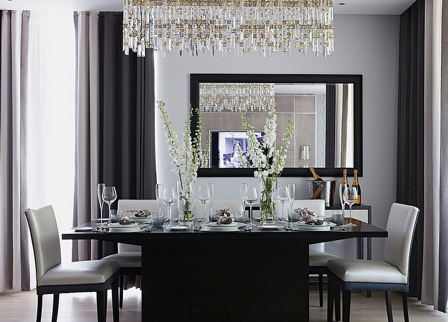 Black and grey dining room