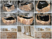раковина из окаменелого дерева Petrified wood / FOSSIL SINK