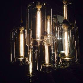 EDISON CUPPING-GLASS CHANDELIER