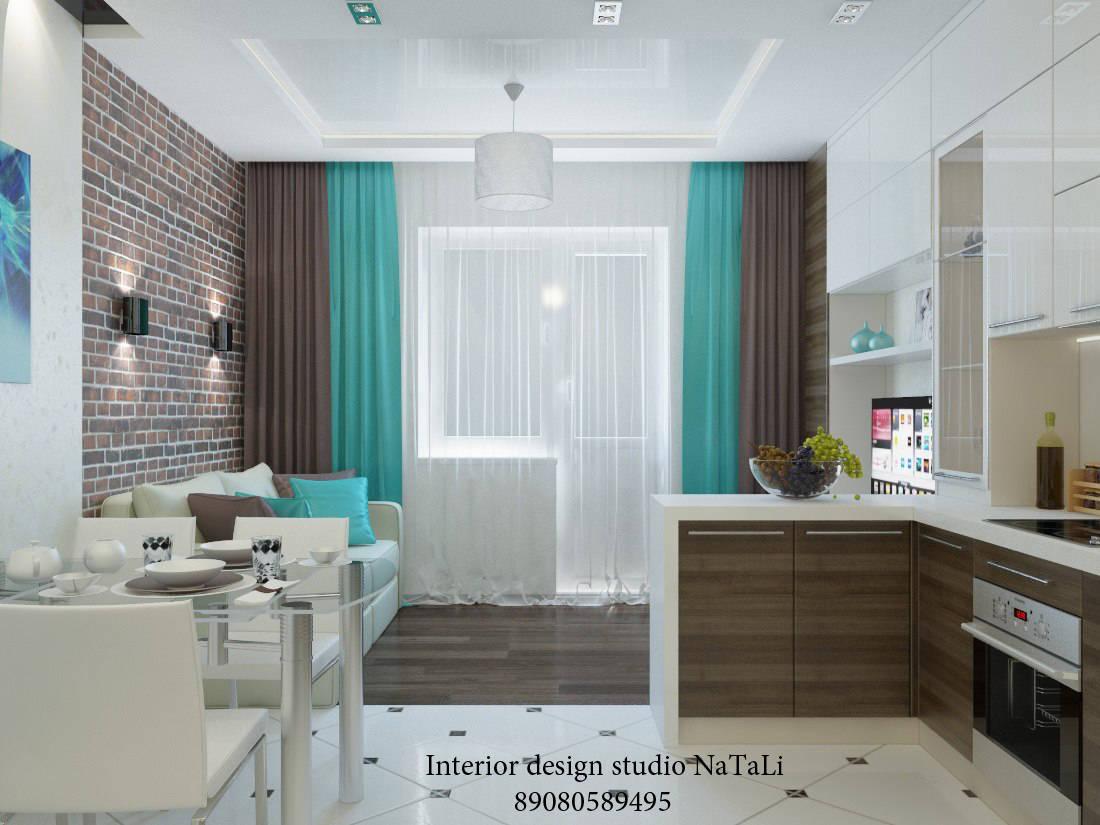 Дизайн проект студии 30 кв.м