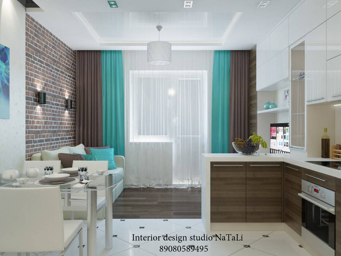Кухня-студия 15 м кв дизайн фото