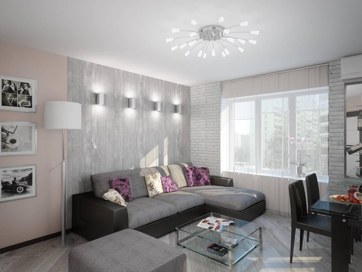 дизайн гостиной фото в панельном доме