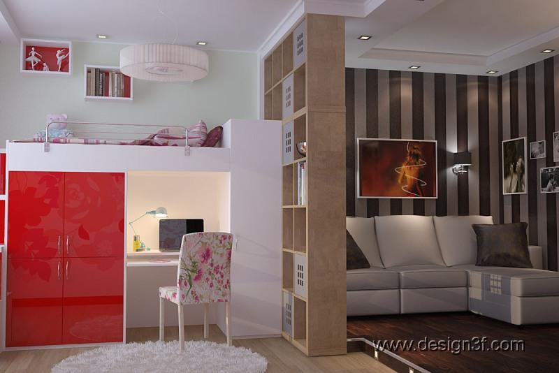 Дизайн квартир 1 комнатной квартиры 36 квм
