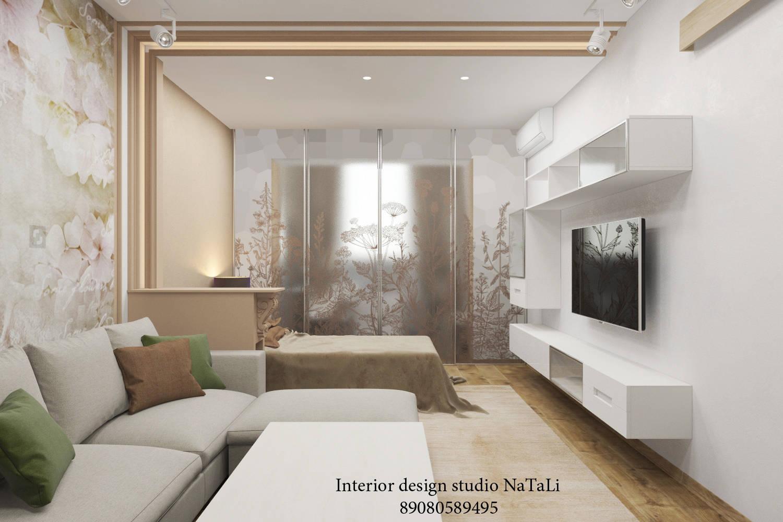 Дизайн гостиной со спальным местом