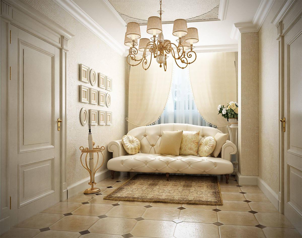 Дизайн квартиры классика в светлых тонах