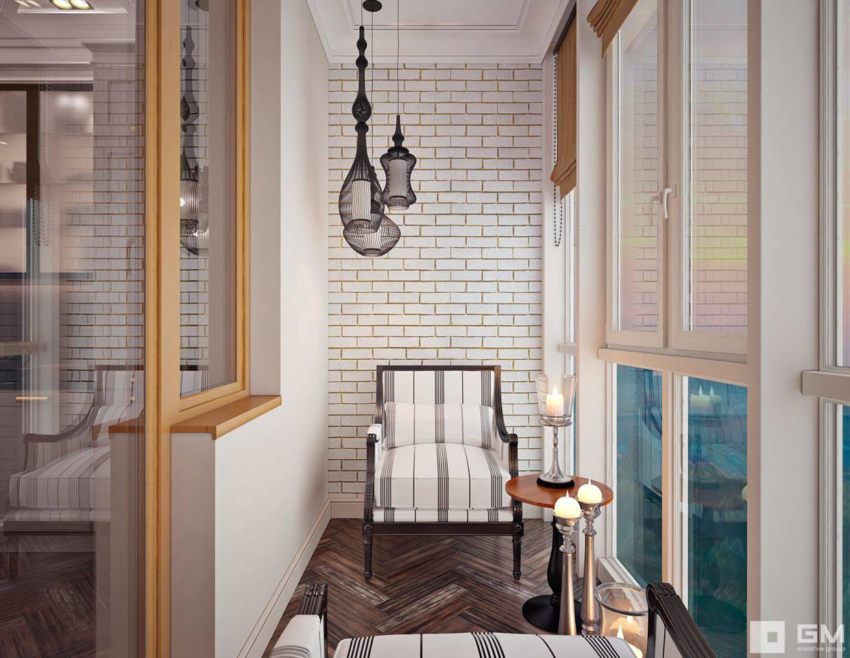 Проект дизайн интерьера 2-х комнатной квартиры от gm-interio.